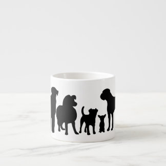 Dogs breed group black silhouette espresso mug