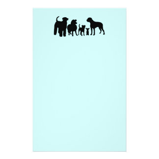 Dogs breed group silhouette logo custom flyers