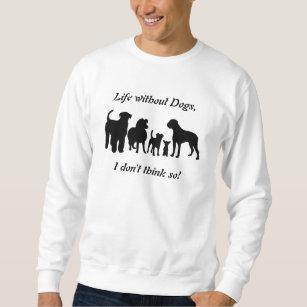 Dogs breed group silhouette unisex sweatshirt