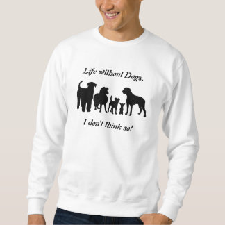 Dogs breed group silhouette unisex sweatshirt