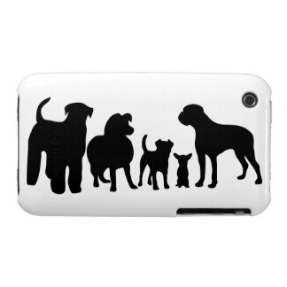 Dogs breed silhouette iphone 3G case mate barely