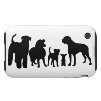 Dogs breed silhouette iphone 3G case mate tough