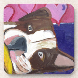 dogs by eric ginsburg beverage coaster