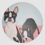 dogs by eric ginsburg classic round sticker