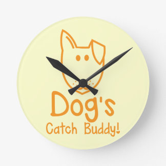 Dog's CATCH Buddy Round Clock