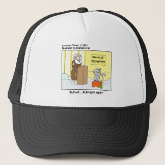 Dogs Cats & Heaven Funny Cartoon Gifts & Tees Trucker Hat