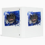 Dog's Christmas Opinion Tongue Out (barely) 3 Ring Binder
