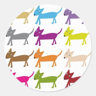 dogs classic round sticker