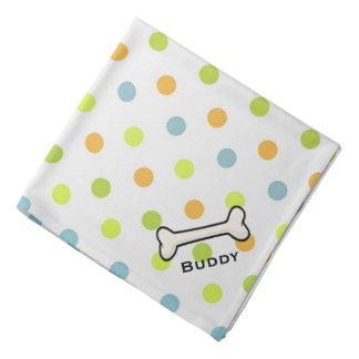 Dog's Colorful Polka Dot Custom Bandana