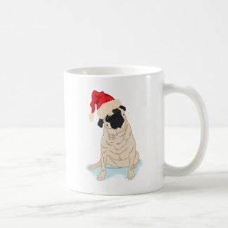 Dogs: Cute Santa Christmas Pug Coffee Mug