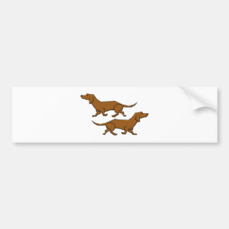 Dogs dachshund sow-says dogs bumper sticker