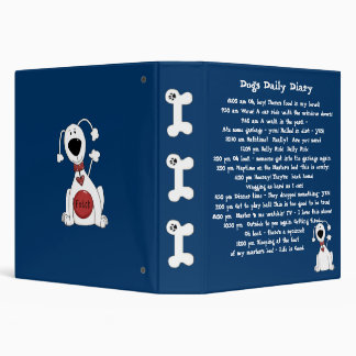 Dogs Daily Diary Funny Pet Binder