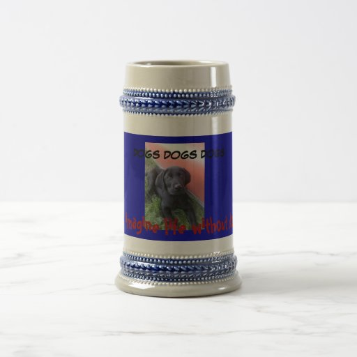 DOGS, DOGS, DOGS 18 OZ BEER STEIN