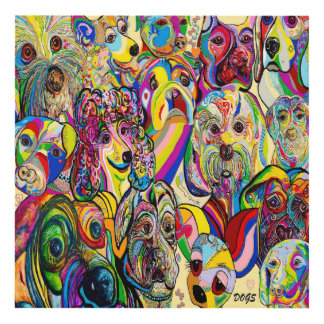 Dogs, Dogs, DOGS! Panel Wall Art