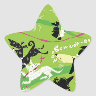 Dogs, Dogs, Everywhere! Star Stickers