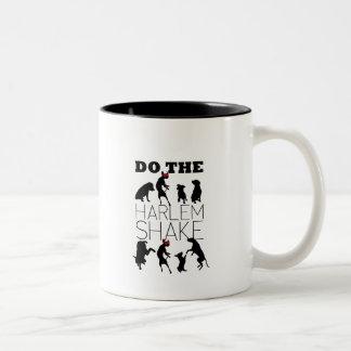 Dogs doing the Harlem Shake Two-Tone Coffee Mug
