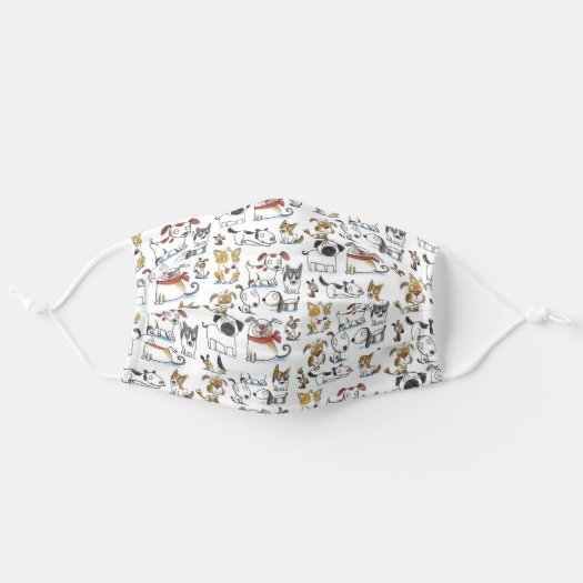 cute cartoon dog pattern face mask