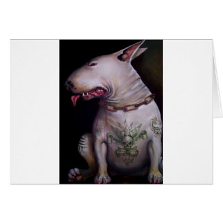 Dogs eat cats card