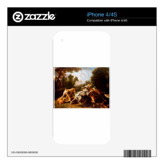 Dogs fighting by Frans Snyders iPhone 4S Decal