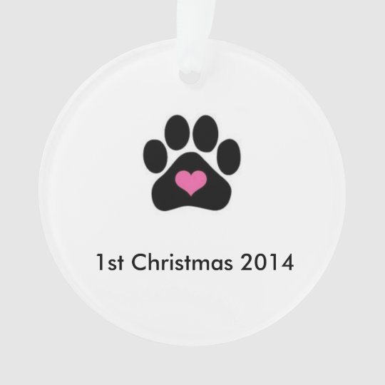 Dogs First Christmas Ornament.Dog S First Christmas Ornament
