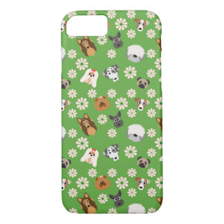 Dogs & Flowers iPhone 7 Case