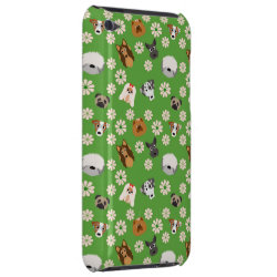 Dogs & Flowers iPod Case-Mate Case