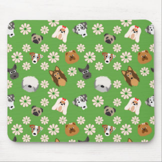 Dogs & Flowers Mouse Pad