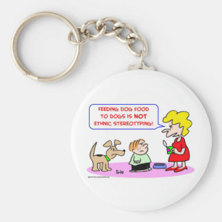 dogs, food, ethnic, stereotyping keychain