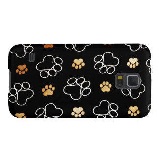Dogs footsteps patterns galaxy s5 case