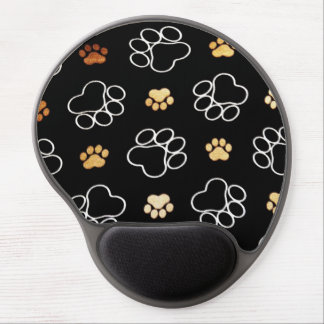 Dogs footsteps patterns gel mouse pad