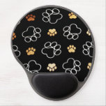 Dogs footsteps patterns gel mouse pads