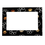 Dogs footsteps patterns magnetic frame