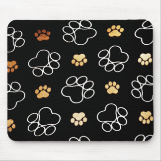 Dogs footsteps patterns mouse pad