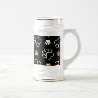 Dogs footsteps patterns coffee mug