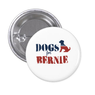 Dogs for Bernie 1 Inch Round Button