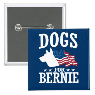 DOGS FOR BERNIE SANDERS BUTTON