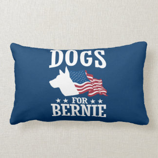 DOGS FOR BERNIE SANDERS LUMBAR PILLOW