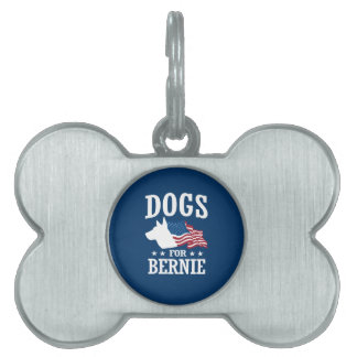 DOGS FOR BERNIE SANDERS PET NAME TAG