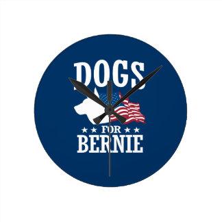 DOGS FOR BERNIE SANDERS ROUND CLOCK