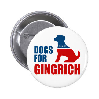 DOGS FOR GINGRICH PIN