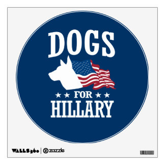 DOGS FOR HILLARY WALL DECAL