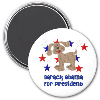 Dogs For Obama 3 Inch Round Magnet