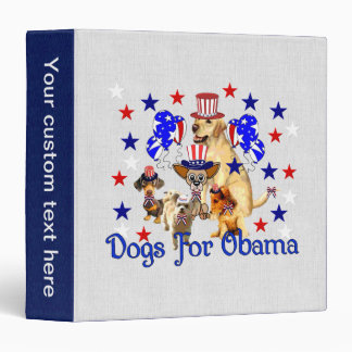 DOGS FOR OBAMA 3 RING BINDER