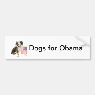 Dogs for Obama Bumper Sticker