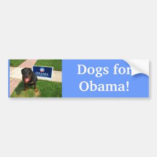 Dogs for Obama! Bumper Sticker