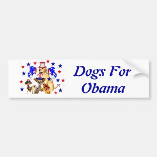 DOGS FOR OBAMA BUMPER STICKERS
