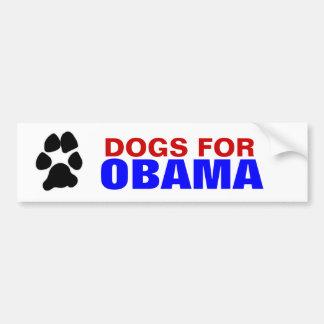 DOGS FOR OBAMA bumpersticker Bumper Sticker