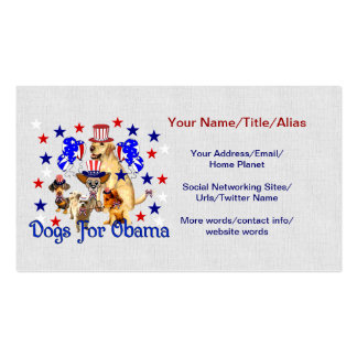 DOGS FOR OBAMA Double-Sided STANDARD BUSINESS CARDS (Pack OF 100)