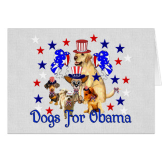 DOGS FOR OBAMA CARD