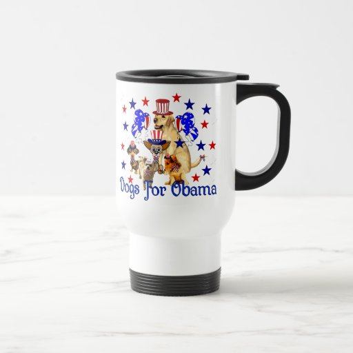 DOGS FOR OBAMA COFFEE MUG
